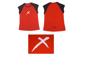 Ladies Red Raglan T